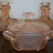 Stolzle Hermanova Hut  pink 19681 pot & 19743 candlesticks 3.jpg